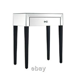 1 Drawer Mirrored Dressing Table Vanity Dresser Console Bedroom Furniture