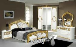 6 Psc Complete Beautiful Sibilia Bedroom Set Furniture Special Offer