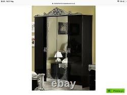 Baroque Bedroom suite. Black and silver. Double/King/Super king. Italian