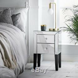Beautify Mirrored Bedroom Furniture Dressing Table Or Bedside Table Nightstand