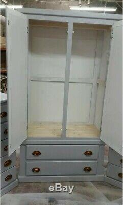 Clearance Solid Grey Mirrored 4 Piece Bedroom Package Assembled Ready To Use