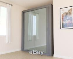 Fitted Wardrobe Style Sliding Doors Double Mirrored Bedroom Storage Shelving