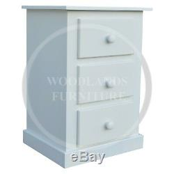 Hand Made Dewsbury 3 Piece Mirrored Bedroom Set In White (assembled)