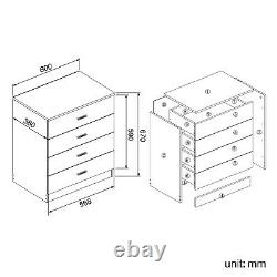 High Gloss 3 Piece Bedroom Furniture Sets Wardrobe Chest Bedside Free Delivery