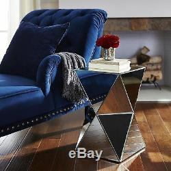 Large DIAMOND Mirrored Mirror Bed Side Bedside Coffee Table Bedroom living room