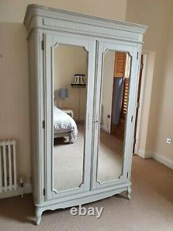 Laura Ashley French Provencal Bedroom mirrored wardrobe Grey rrp £1795, rare