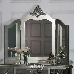 Mirror French Style Tri Fold Argente Dressing Table Mirror Vanity Mirror Bedroom
