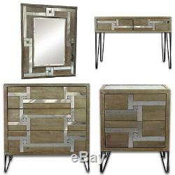 Mirror bedroom Dressing Table bedside cabinet console Dresser Mirrored Glass