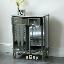 Mirrored Bed Wardrobe Dressing Table French Style Mirror Bedroom Furniture