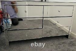 Mirrored Chest of Drawers 6 Modern Bedroom Furniture Storage