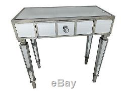 Mirrored Console Table / Desk / Dressing Table Bedroom Home Glass Storage