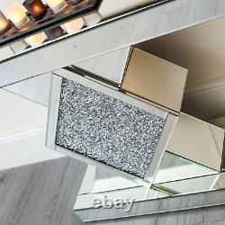 Mirrored Console Table Hallway Mirror Furniture Glass Lounge Bedroom Landing