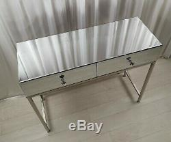 Mirrored Dressing Table Vanity Table Drawers Glass Bedroom Make-Up Console TABLE