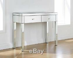 Mirrored Dressing Table Venetian 2 Drawer Dressing Table Console Table Bedroom