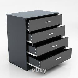 Mirrored Wardrobe Chest Of Drawer Bedside Table Cabinet Bedroom Furniture Set