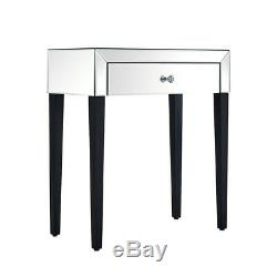 Modern 1 Drawer Mirrored Dressing Table Vanity Dresser Console Bedroom Furniture