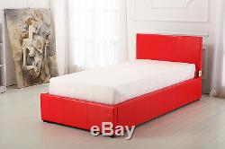 Red High Gloss Bedroom Furniture Units 3 & 4 Piece Sets Wardrobe chest bedside
