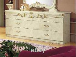 Rocco Italian Bedroom Suite Gold & Ivory 100% MADE IN ITALY