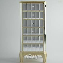 Venetian Mirrored Chest Of Drawers French Shabby Chic Tallboy Cabinet Bedroom