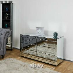 Venetian Mirrored Sideboard Bedroom Chest of Drawers Hall Mirror Storage Cabinet