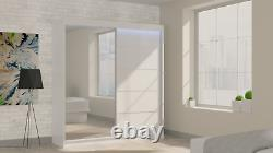 Wardrobe Modern Mirrored Wardrobe 2 Sliding Doors Bedroom Furniture MRMA 200 cm